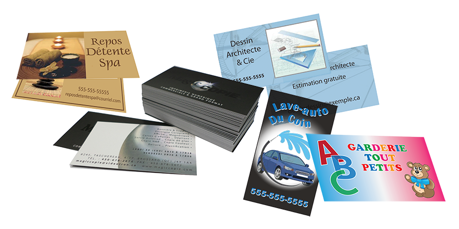 Cartes d'affaires - Imprimerie Magic Copie Brossard