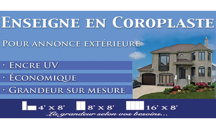 Coroplaste - Imprimerie Magic Copie - Brossard